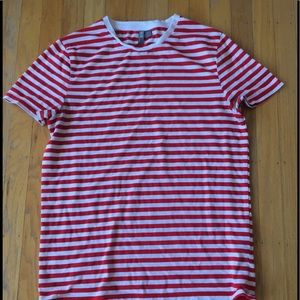 Asos sz M red white striped soft cotton top style